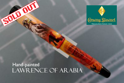Conway Stewart Churchill Lawrence of Arabia hand-painted