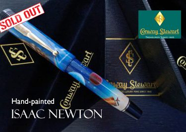 Conway Stewart Churchill Sir Isaac Newton handpainted