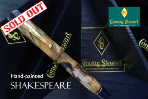 Conway Stewart Churchill hand-painted William Shakespeare