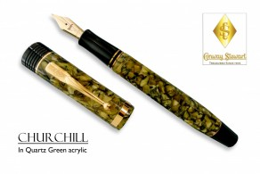 Conway Stewart Churchill Quartz Green acrylic