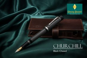 Conway Stewart Churchill Black Chased