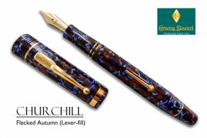 Conway Stewart Churchill Flecked Autumn Lever fill