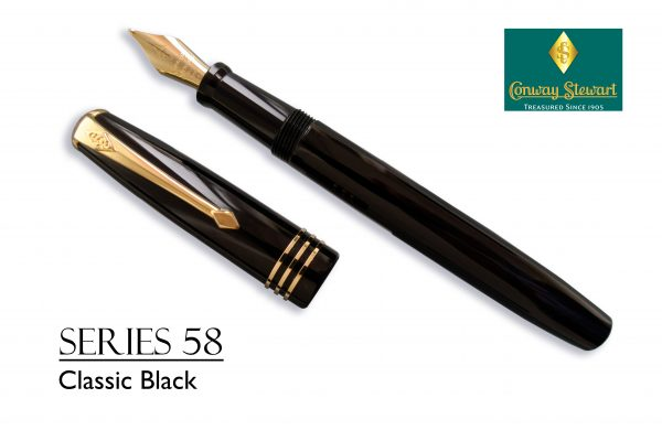 Conway Stewart Series 58 Classic Black with gold fittings