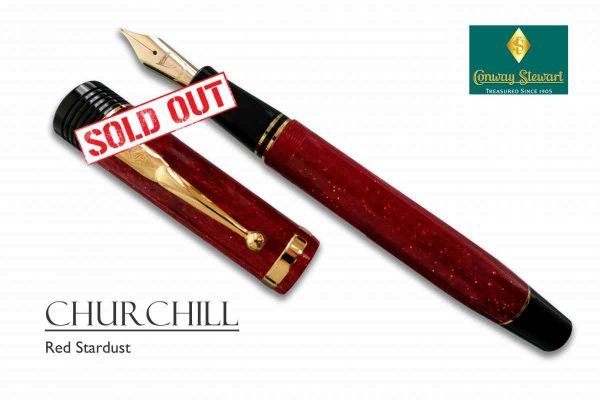 Conway Stewart Churchill Red Stardust sold out