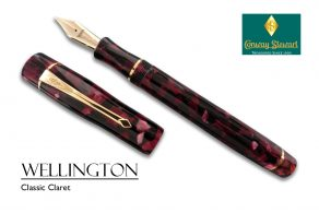 Conway Stewart Wellington Classic claret with gold fittings