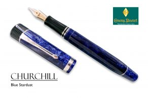 Conway Stewart Churchill Blue Stardust
