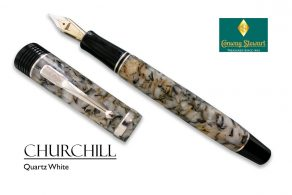 Conway Stewart Churchill Quartz White